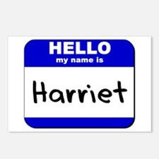 hello my name is harriet  Postcards (Package of 8)