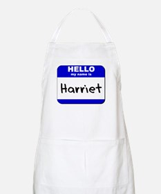 hello my name is harriet  BBQ Apron