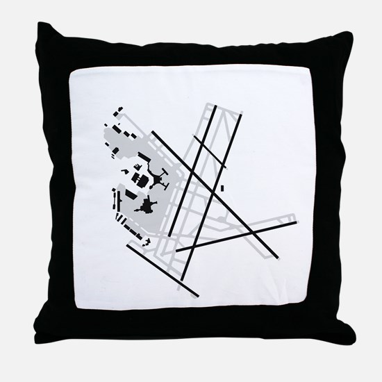 BOS Airport Throw Pillow