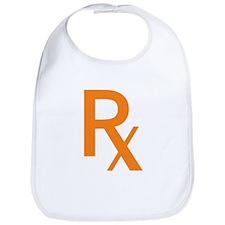 Orange Rx Symbol Bib