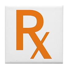 Orange Rx Symbol Tile Coaster