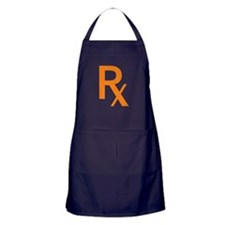 Orange Rx Symbol Apron (dark)