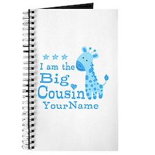 Blue Giraffe Personalized Big Cousin Journal