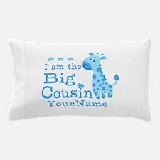Blue Giraffe Personalized Big Cousin Pillow Case