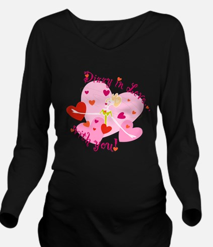 Dizzy in Love with You! Long Sleeve Maternity T-Sh