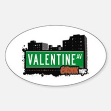 Valentine Av, Bronx, NYC Oval Decal