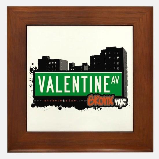 Valentine Av, Bronx, NYC  Framed Tile
