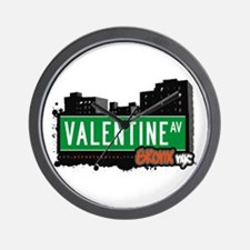 Valentine Av, Bronx, NYC  Wall Clock
