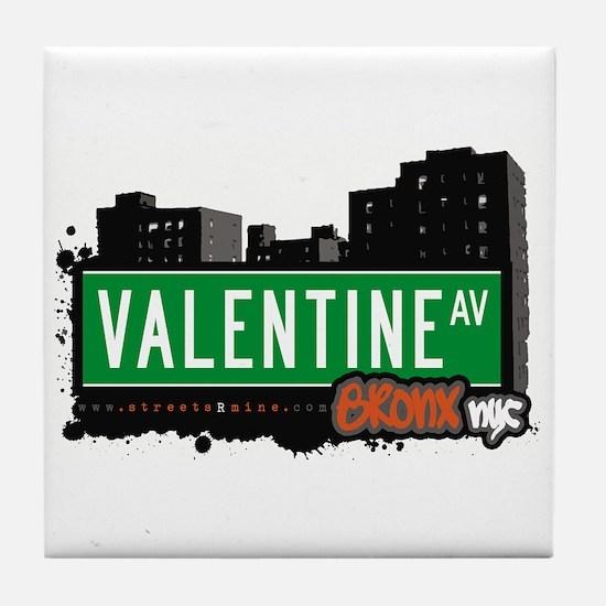 Valentine Av, Bronx, NYC  Tile Coaster