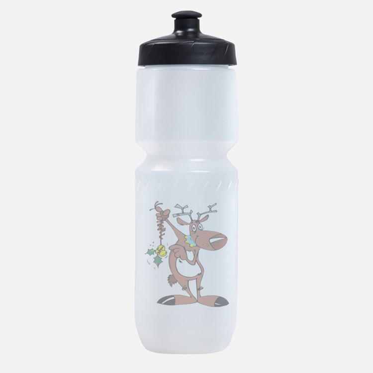 reindeer_holly,oval.png Sports Bottle