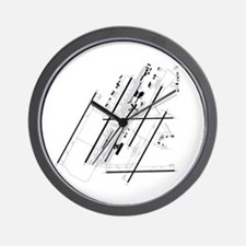 DTW Airport Wall Clock