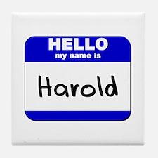 hello my name is harold  Tile Coaster