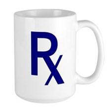 Blue Rx Symbol Mug
