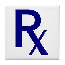 Blue Rx Symbol Tile Coaster