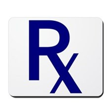 Blue Rx Symbol Mousepad