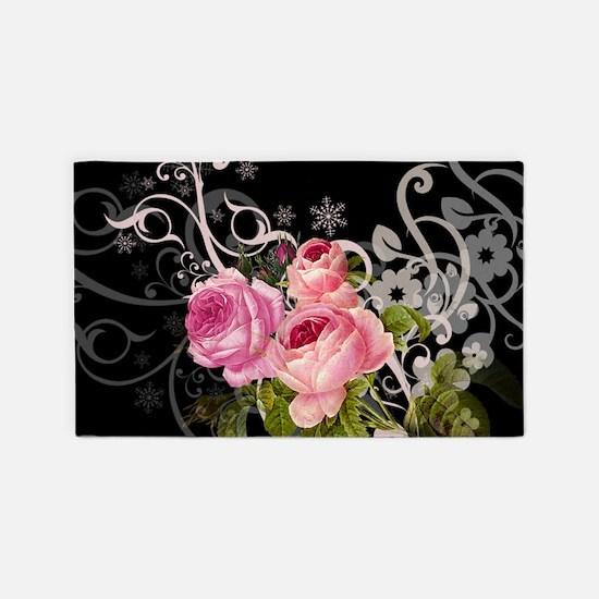 Rose Elegance 3'x5' Area Rug