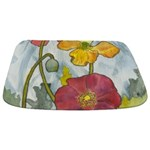 Watercolor Poppies Bathmat