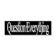 Unique Question evolution Car Magnet 10 x 3