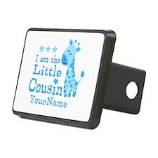Blue Giraffe Personalized Little Cousin Rectangula