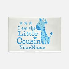 Blue Giraffe Personalized Little Cousin Rectangle