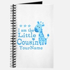 Blue Giraffe Personalized Little Cousin Journal