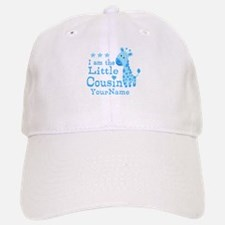 Blue Giraffe Personalized Little Cousin Baseball Baseball Cap
