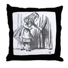 Drink Me vintage Alice in Wonderland  Throw Pillow