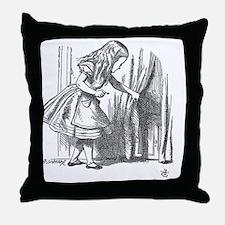 Drink Me vintage Alice in Wonderland  Throw Pillow