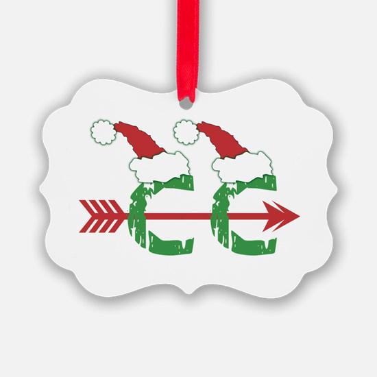 Cross Country Christmas Holiday Ornament