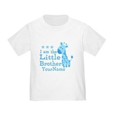 Little Brother Blue Giraffe Personalized T