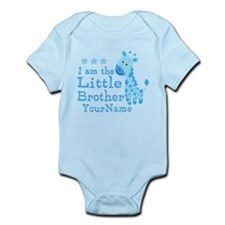 Little Brother Blue Giraffe Personalized Infant Bo