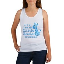 Little Brother Blue Giraffe Personalized Women's T