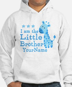 Little Brother Blue Giraffe Personalized Hoodie