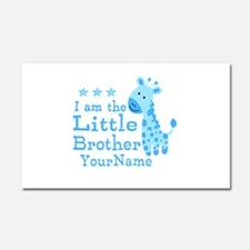 Little Brother Blue Giraffe Personalized Car Magne