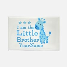 Little Brother Blue Giraffe Personalized Rectangle