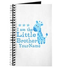 Little Brother Blue Giraffe Personalized Journal