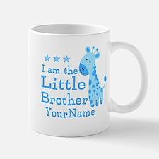 Little Brother Blue Giraffe Personalized Mug