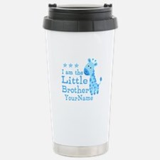 Little Brother Blue Giraffe Personalized Travel Mug