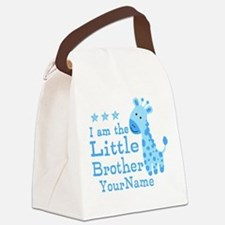 Little Brother Blue Giraffe Personalized Canvas Lu
