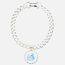Little Brother Blue Giraffe Personalized Bracelet