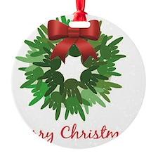 I Love You Christmas Wreath Ornament