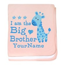 Giraffe Big Brother Personalized baby blanket