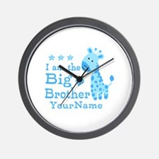 Giraffe Big Brother Personalized Wall Clock