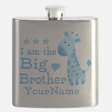 Giraffe Big Brother Personalized Flask