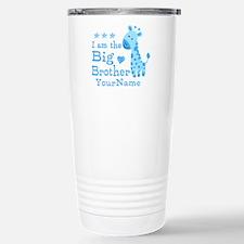 Giraffe Big Brother Personalized Travel Mug