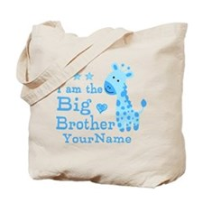 Giraffe Big Brother Personalized Tote Bag