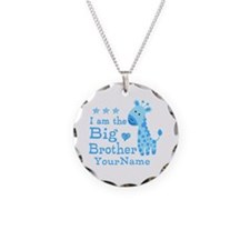 Giraffe Big Brother Personalized Necklace