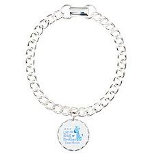 Giraffe Big Brother Personalized Charm Bracelet, O
