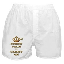 Screw Calm and Carry On Boxer Shorts