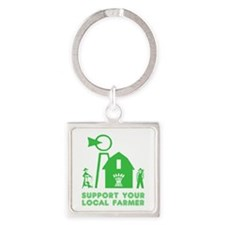 Support Your Local Farmer 3 Keychains